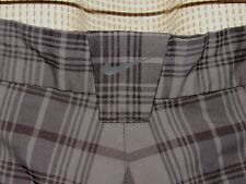 NIKE Golf short mens 36 tour performance grays plaid microfiber flat frt DRI FIT