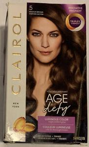Clairol Age Defy Hair Color Permanent #5 Medium Brown Tri-plex Formula New!