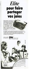 Publicité Advertising 097  1979   Elite  télephone PTT  Cit Alcatel