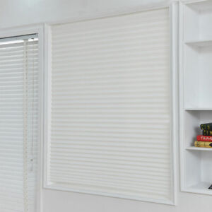Temporary Blackout Window Curtain Shade Pleated Rolling Blinds 3-Sizes