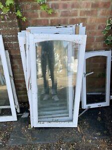 8 Reclaimed Wooden Window Sashes double Glazed white finish arched