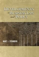 Developments in Business Law and Policy by Marc I. Steinberg (2012, Paperback)