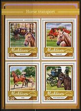 MALDIVES  2017  HORSE TRANSPORT  SHEET MINT NH