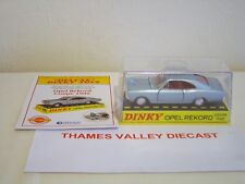ATLAS EDITIONS DINKY TOYS DELUXE, 1405 OPEL REKORD COUPE 1900 + CERT OF AUTH