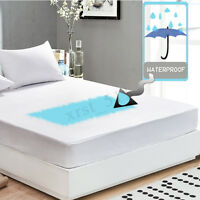 Anti Dust Mite Mattress Protector Cover Breathable Fitted Bed Sheet Waterproof