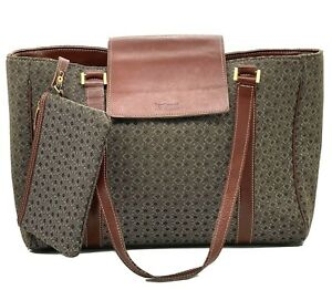 Hartmann Diamond Career Tote with Matching Zip Pouch - Cognac 2540 - Vintage