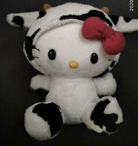 Hello Kitty with a cow suit plush original Sanrio