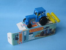 Lesney Matchbox 46 Ford Tractor Blue Body Farming Picture Box Black Hubs