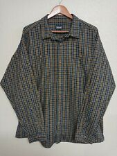 Patagonia Organic Cotton XL Flannel Shirt Brown Plaid
