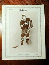 """CHARLIE LANGLOIS 1927/28  """"La Patrie""""  MONTREAL CANADIANS #12    VERY RARE"""