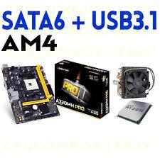 COMBO AMD RYZEN 3 1200 QUAD CORE CPU+BIOSTAR A320MH PRO AM4 DDR4 Motherboard
