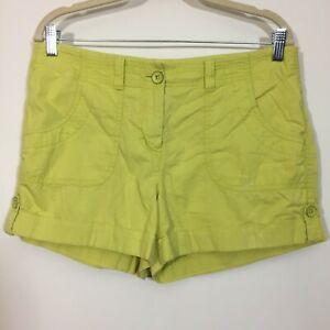 Ann Taylor LOFT Shorts Size 8 Yellow ORIGINAL Fit Chino