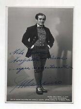 Fotografia autografo GIOVANNI MALIPIERO Cantante tenore anni 30/40 lirica photo