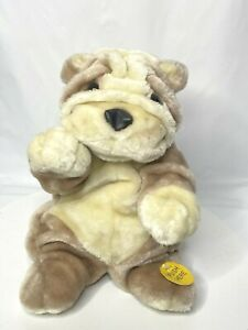"""Gemmy Plush Bulldog Dancing Singing """"Who Let the Dogs Out"""" 10"""" Works See video!"""