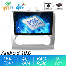 """9"""" 4GB+64GB Android 10.0 Car STEREO RADIO for Ford Focus MK2 Mondeo GPS SAT Nav"""