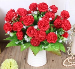 Artificial Flowers 8 Heads Fake Floral Silk Hydrangea Branch Home Decoration New