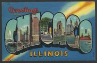 Greetings and Howdy From Chicago Illinois Lot of Two Vintage Souvenir Postcards