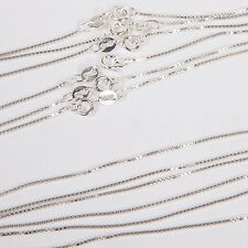 "30 pieces 20"" 50cm Italian 1mm Sterling Silver 925 BOX 015 CHAIN Necklaces LOT"
