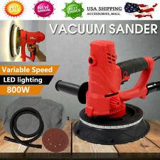 New Electric HandHeld Drywall Sander 1580W Variable Speed w/ Vacuum & Led Light