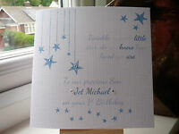 Handmade Personalised Twinkle Twinkle Birthday Card Son Grandson Godson 1st 2 3