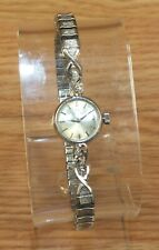 Vintage Omega A77-32 (483) 14k White Gold Women's Wing Up Wrist Watch **READ**