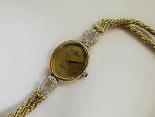 Vintage Baume & Mercier 14KT Yellow Gold and Diamond Ladies Watch