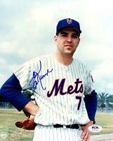 Ed Kranepool autographed signed MLB New York Mets 8x10 photo PSA COA