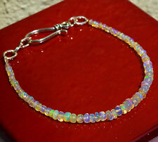 Natural ETHIOPIAN FIRE OPAL Bracelet Silver Handcrafted
