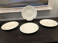 """Wedgwood Queen's Ware Edme Set of 4 Lunch Salad 8.25"""" Plates Ivory England Made"""