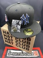 Hat Club MLB ALL Black Dome New York Yankees 100 Anniv  7 1/4 NEW ERA IN HAND ⚾️