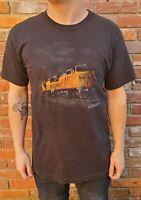 Vintage Union Pacific Railroad Graphic T-Shirt 90s Large Rare VTG Trains Novelty
