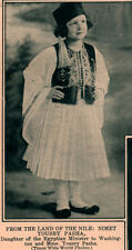 1925 ROTOGRAVURE NIMET YOUSRY PASHA EGYPTIAN MINISTER DAUGHTER NATIVE DRESS