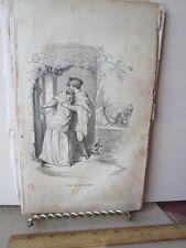 Vintage Print,THE ELOPEMENT,Black+White Engraving