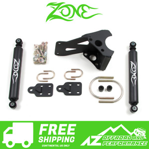 Zone Offroad Dual Steering Stabilizer Kit fits 05-21 Ford F250 F350 Super Duty