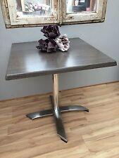 Bistrotisch Tisch Outdoor Bistro mit Aluminiumgestell und Klappfunktion Grau NEU