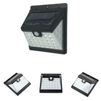 4X 40LED Solar Powered PIR Motion Sensor Wall Security Light Garden Outdoor Lamp