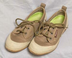 Vasque Olive Green Canvas/Tan Rubber Lace-Up Sneakers Women's Shoes 7.5 g35