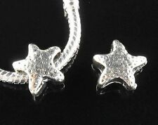 2 Silver Starfish Charms ~ Brand New & Sealed ~ Plus Free Gift Pouch ~ UK Seller