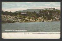 1900s Buttermilk Falls and Cranstons Hudson River NY UNDIVIDED BACK POSTCARD UDB