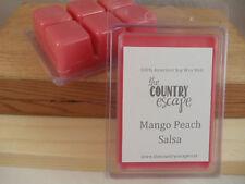 Mango Peach Salsa Scented Soy Wax Clamshell Melt Tart- 2wks of Fragrance