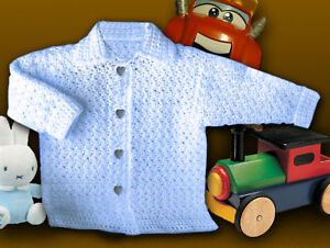 Baby Jacket / Cardy Crochet PATTERN ! - Premature to 4-5 years Aran and DK. Easy