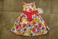 American Princes Baby Girls 2 Piece Dress Bloomers 9 12 Mo Pink Floral NWT