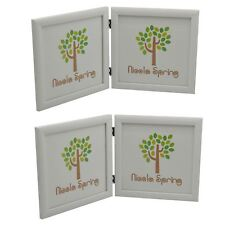 8x8 Folding Double Photo Picture Frame In White - x2
