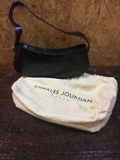 27f939b267 Ancien Petit Sac A Main Charles Jourdan Paris Vintage Cuir Noir