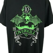 New listing Overkill T Shirt Vintage 90s 1995 Wrecking Your Neck 10 Years Album Promo Xl