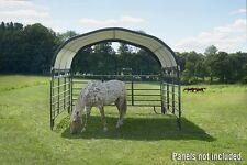 12x12 ShelterLogic Corral Shelter Horse Farm Agriculture Steel Frame 51523