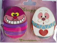 Disney Set 2 Pins Oeuf Chat Cheshire Lapin Alice Au Pays Des Merveilles Trading