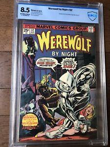 Werewolf By Night #32 CBCS 8.5 ow/w - Origin & 1st App of Moon Knight