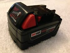 New Milwaukee 48-11-1850 M18 18V 18 Volt XC 5.0 Ah Red Lithium Ion Battery