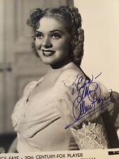 Stunning Alice Faye Autograph SIGNED  PHOTO GA COA